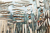 USA, Alaska, Homer, handmade tools are carved from Antler and bone