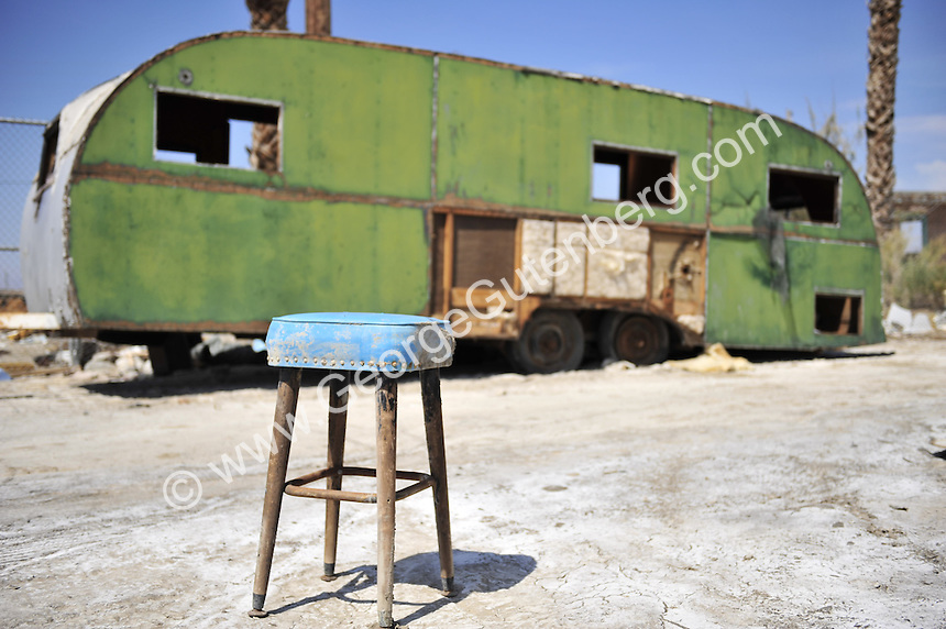 Abandoned trailers at the Salton Sea