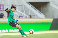 Orlando, FL - Sunday May 14, 2017: Sabrina D'Angelo during a regular season National Women's Soccer League (NWSL) match between the Orlando Pride and the North Carolina Courage at Orlando City Stadium.