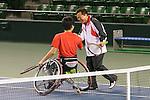 (L-R)  Shingo Kunieda, Naoki Inose, MARCH 4, 2013 : IOC Evaluation Commission visit at Ariake Coliseum, Tokyo, Japan. (Photo by AFLO SPORT)