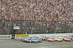 June 14 2009:  The start of the LifeLock 400 at Michigan International Speedway in Brooklyn, MIchigan.