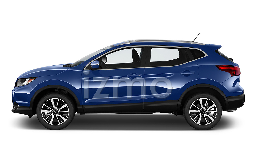 Car driver side profile view of a 2019 Nissan Rogue Sport SL 5 Door SUV