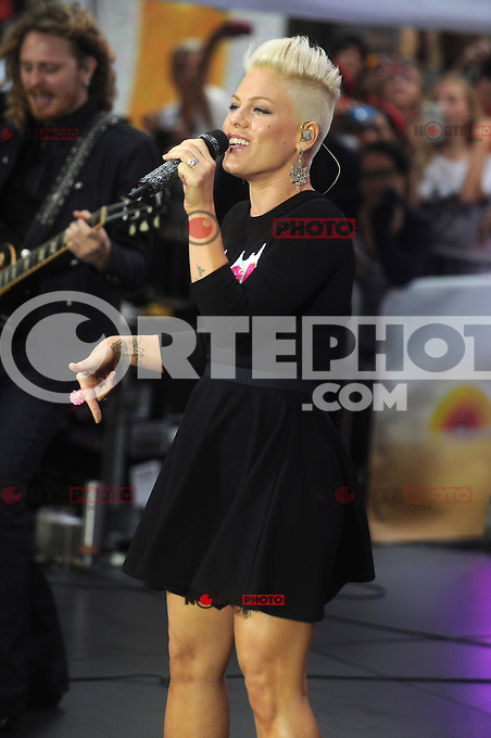 NEW YORK, NY - SEPTEMBER 18: Pink Performs on NBC's Today Show at Rockefeller Center in New York City.  September 18, 2012. &copy;&nbsp;mpi01/MediaPunch Inc. /NortePhoto.com<br />