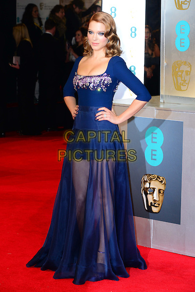 LONDON, ENGLAND - FEBRUARY 16: Lea Seydoux attends EE British Academy Film Awards (BAFTAs) at Royal Opera House, Covent Garden, on February 16, 2014, in London, England.  <br /> CAP/JOR<br /> &copy;Nils Jorgensen/Capital Pictures