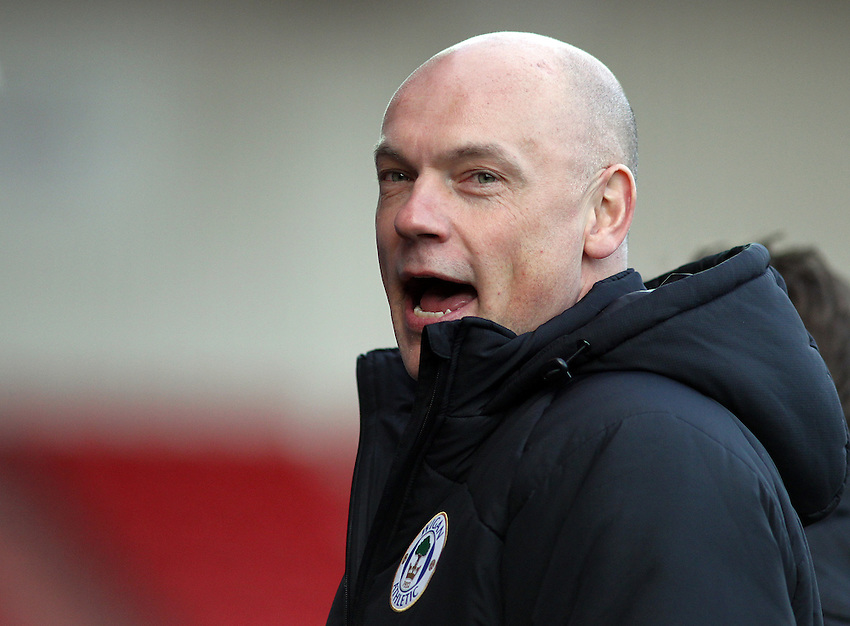 Wigan Athletic's Manager Uwe R&ouml;sler <br /> <br /> Photo by Rich Linley/CameraSport<br /> <br /> Football - The Football League Sky Bet Championship - Doncaster Rovers v Wigan Athletic - Saturday 18th January 2014 - Keepmoat Stadium - Doncaster<br /> <br /> &copy; CameraSport - 43 Linden Ave. Countesthorpe. Leicester. England. LE8 5PG - Tel: +44 (0) 116 277 4147 - admin@camerasport.com - www.camerasport.com