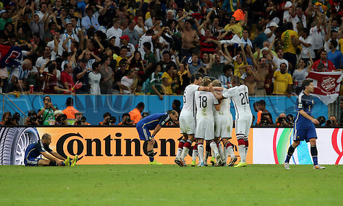 13.07.2014. Rio de Janeiro, Brazil. World Cup Final. Germany versus Argentina. Goetze's celebration after he scored his goal for 1-0