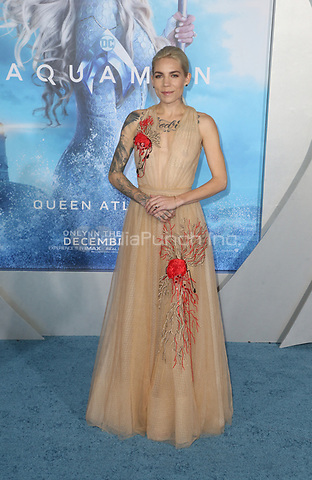 "HOLLYWOOD, CA - DECEMBER 12: Skylar Grey, at Premiere Of Warner Bros. Pictures' ""Aquaman"" at The TCL Chinese Theater in Hollywood, California on December 12, 2018. Credit: Faye Sadou/MediaPunch"