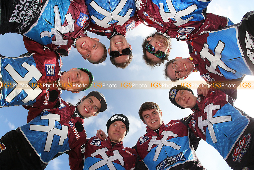 Lakeside Hammers team line-up for the 2012 season - Lakeside Hammers Speedway Press & Practice Day at Arena Essex Raceway, Purfleet - 20/03/12 - MANDATORY CREDIT: Gavin Ellis/TGSPHOTO - Self billing applies where appropriate - 0845 094 6026 - contact@tgsphoto.co.uk - NO UNPAID USE.
