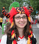 19 June 2006: A Germany fan. Spain played Tunisia at the Gottlieb-Daimler Stadion in Stuttgart, Germany in match 31, a Group H first round game, of the 2006 FIFA World Cup.