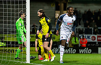 Bolton Wanderers' Joe Dodoo (right) celebrates a goal from team mate Ryan Delaney (not shown)  <br /> <br /> Photographer Andrew Kearns/CameraSport<br /> <br /> The Premier League - Leicester City v Aston Villa - Monday 9th March 2020 - King Power Stadium - Leicester<br /> <br /> World Copyright © 2020 CameraSport. All rights reserved. 43 Linden Ave. Countesthorpe. Leicester. England. LE8 5PG - Tel: +44 (0) 116 277 4147 - admin@camerasport.com - www.camerasport.com
