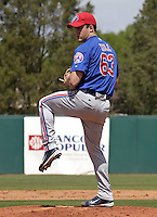 March 26, 2004:  Pitcher Shawn Hill of the Montreal Expos (Washington Nationals) organization during Spring Training at Osceola County Stadium in Kissimmee, FL.  Photo copyright Mike Janes/Four Seam Images
