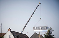 container-sized enthusiasm along the parcours for Greg VAN AVERMAET (BEL/CCC), Oliver Naesen (BEL/AG2R-La Mondiale) & Lawrence Naesen (BEL/Lotto Soudal)<br /> <br /> 103rd Ronde van Vlaanderen 2019<br /> One day race from Antwerp to Oudenaarde (BEL/270km)<br /> <br /> ©kramon