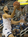 Nevada forward forward Caleb Martin (10) shoots a lay-up against California Baptist in the first half of an NCAA college basketball game in Reno, Nev., Monday, Nov. 19, 2018. (AP Photo/Tom R. Smedes)