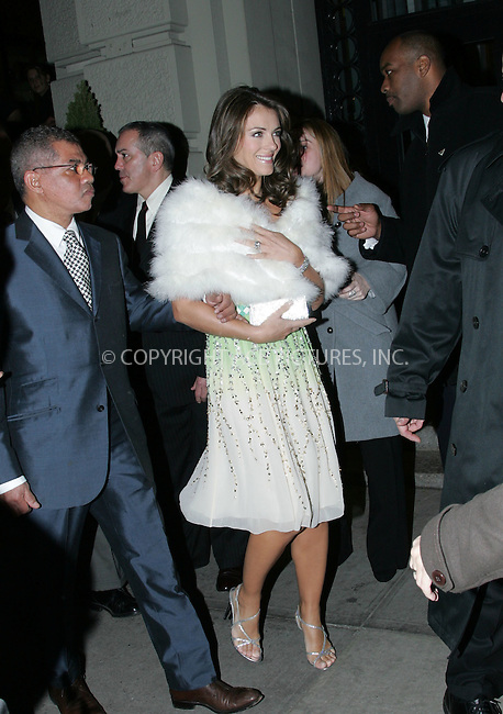 WWW.ACEPIXS.COM . . . . . ....November 12 2007, New York City....Elizabeth Hurley leaves her hotel on the way to the Chopard flagship store opening on Madison Avenue....Please byline: DAVID MURPHY - ACEPIXS.COM.. . . . . . ..Ace Pictures, Inc:  ..(646) 769 0430..e-mail: info@acepixs.com..web: http://www.acepixs.com