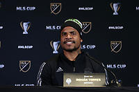 SEATTLE, WA - NOVEMBER 7: Roman Torres #29 of the Seattle Sounders FC at Grand Hyatt Seattle on November 7, 2019 in Seattle, Washington.