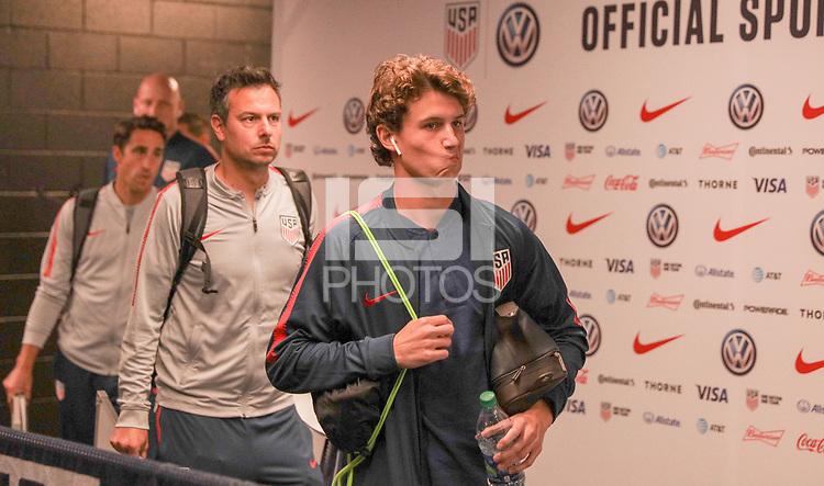 WASHINGTON D.C. - OCTOBER 11: USMNT of the United States walks off the team bus prior to their Nations League game versus Cuba at Audi Field, on October 11, 2019 in Washington D.C.