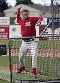 June 19, 2004:  Pitching Coach Warren Brusstar of the Batavia Muckdogs, Short-Season Single-A affiliate of the Philadelphia Phillies, during a game at Dwyer Stadium in Batavia, NY.  Photo by:  Mike Janes/Four Seam Images