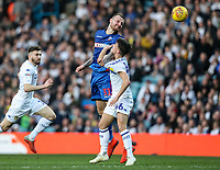 Bolton Wanderers' David Wheater competing with Leeds United's Jamie Shackleton <br /> <br /> Photographer Andrew Kearns/CameraSport<br /> <br /> The EFL Sky Bet Championship - Leeds United v Bolton Wanderers - Saturday 23rd February 2019 - Elland Road - Leeds<br /> <br /> World Copyright © 2019 CameraSport. All rights reserved. 43 Linden Ave. Countesthorpe. Leicester. England. LE8 5PG - Tel: +44 (0) 116 277 4147 - admin@camerasport.com - www.camerasport.com