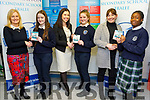 Presentation Secondary school students in recognition of full attendance an initiative run by National Education Welfare Board, received vouchers at the school on Thursday as students were encouraged to attend the full month of November. <br /> L to r: Chrissy Kelly (Deputy principal), Erica Lucid (5th year), Elaine Dennehy (Teacher), Clodagh Giles (2nd year), Sheila O'Connell (Teacher) and Zoe Ncube (2nd year).