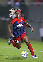 Boyds, MD - Friday Sept. 30, 2016: Crystal Dunn during a National Women's Soccer League (NWSL) semi-finals match between the Washington Spirit and the Chicago Red Stars at Maureen Hendricks Field, Maryland SoccerPlex. The Washington Spirit won 2-1 in overtime.
