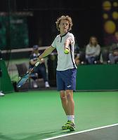 Rotterdam, Netherlands, 11 februari, 2017, ABNAMROWTT, Supermatch semifinal, Pim van der Horst (NED)