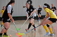 New Zealand's Ashleigh Mudge  in action during the World Floorball Championships 2017 Qualification for Asia Oceania Region - New Zealand v Malaysia at ASB Sports Centre , Wellington, New Zealand on Saturday 4 February 2017.<br /> Photo by Masanori Udagawa<br /> www.photowellington.photoshelter.com.