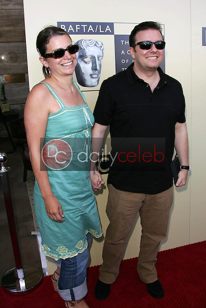 Ricky Gervais and friend<br />