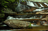 The impressive Harper Creek Waterfall in the North Carolina's Blue Ridge mountains.