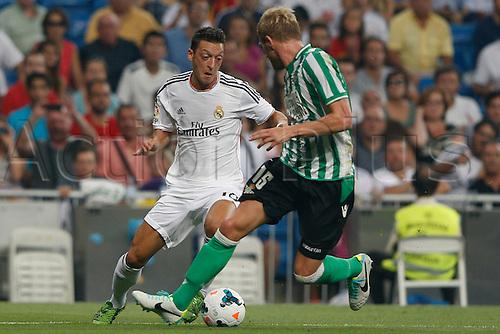 18.08.2013. Madrid, Spain, La Liga football  Real Madrid CF versus  Real Betis Balompie (2-1) at Santiago Bernabeu stadium. The picture shows Mesut Ozil (German midfielder of Real Madrid)