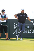 Shane Lowry (IRL) on the 10th tee during the 3rd round of  the Saudi International powered by Softbank Investment Advisers, Royal Greens G&CC, King Abdullah Economic City,  Saudi Arabia. 01/02/2020<br /> Picture: Golffile | Fran Caffrey<br /> <br /> <br /> All photo usage must carry mandatory copyright credit (© Golffile | Fran Caffrey)
