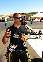 Jul. 17, 2010; Sonoma, CA, USA; NHRA top fuel dragster driver Tony Schumacher during qualifying for the Fram Autolite Nationals at Infineon Raceway. Mandatory Credit: Mark J. Rebilas-