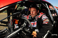 Jul. 17, 2010; Sonoma, CA, USA; NHRA pro stock driver Greg Anderson during qualifying for the Fram Autolite Nationals at Infineon Raceway. Mandatory Credit: Mark J. Rebilas-