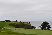 A long shot of play towards the bay during round 1 of the 2019 US Open, Pebble Beach Golf Links, Monterrey, California, USA. 6/13/2019.<br /> Picture: Golffile | Ken Murray<br /> <br /> All photo usage must carry mandatory copyright credit (© Golffile | Ken Murray)