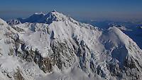 Mount Hunter from Denali, Alaska Range.