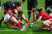 9th June 2017, Westpac Stadium, Wellington, New Zealand; International Womens Rugby; New Zealand versus Canada;  New Zealands Fiao'o Faamausili  scores a try during the International Women's Series