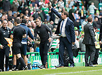 Celtic v St Johnstone &hellip;26.08.17&hellip; Celtic Park&hellip; SPFL<br />Tommy Wright waves to fans at full time<br />Picture by Graeme Hart.<br />Copyright Perthshire Picture Agency<br />Tel: 01738 623350  Mobile: 07990 594431