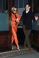 NEW YORK, NY February 01, 2018: Rita Ora leaving for the Late Night with Seth Meyers to talk about  Fifty Shades Freed and her single  For You in New York City.February 01, 2018.  <br /> CAP/MPI/RW<br /> &copy;RW/MPI/Capital Pictures
