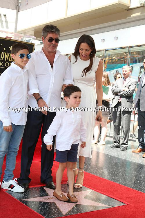 Usa Simon Cowell Star Ceremony Los Angeles Hutchins Photo