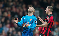 Jack Wilshere of Arsenal shows his frustration during the Premier League match between Bournemouth and Arsenal at the Goldsands Stadium, Bournemouth, England on 14 January 2018. Photo by Andy Rowland.