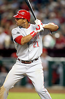 Chris Dickerson / Cincinnati Reds playing against the Arizona Diamondbacks at Chase Field, Phoenix, AZ - 09/12/2008..Photo by:  Bill Mitchell/Four Seam Images