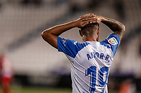 22nd June 2020; Estadio Municipal de Butarque, Madrid, Spain; La Liga Football, Club Deportivo Leganes versus Granada; Aitor Ruibal (CD Leganes)  frustrated as he misses a good goal scoring chance