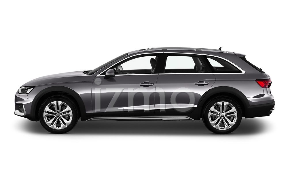 Car driver side profile view of a 2020 Audi A4-Allord Base 5 Door Wagon