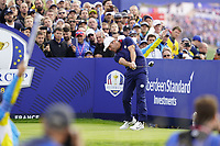 Paul Casey (Team Europe) on the on the 9th during the friday fourballs at the Ryder Cup, Le Golf National, Iles-de-France, France. 27/09/2018.<br /> Picture Fran Caffrey / Golffile.ie<br /> <br /> All photo usage must carry mandatory copyright credit (© Golffile | Fran Caffrey)