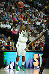 01 APRIL 2012:  Guard Terran Condrey (20) of Baylor University takes a shot against Stanford University during the Division I Women's Final Four semifinals at the Pepsi Center in Denver, CO.  Baylor defeated Stanford 59-47 to advance to the championship final.  Stephen Nowland/NCAA Photos