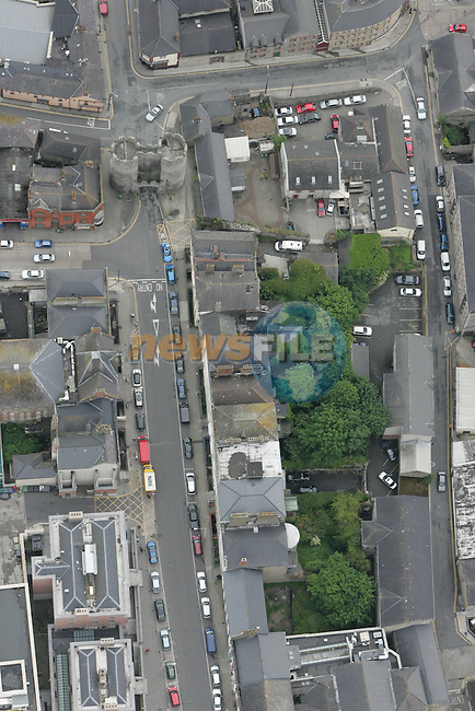 Aerial of laurence street, Laurence Gate, Constuition Hill and Back Lanes...Photo: Newsfile/Fran Caffrey.