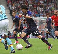 Men's Olympic Football match Spain v Japan on 26.7.12...Kensuke Nagai of Japan, during the Spain v Japan Men's Olympic Football match at Hampden Park, Glasgow.........