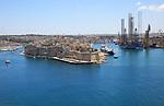 Senglea and Il-Kortin China Dock, French Creek, Grand Harbour, Valletta, Malta