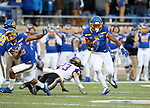 BROOKINGS, SD - NOVEMBER 16: Michael Griffin II #6 of the South Dakota State Jackrabbits returns an interception against the Northern Iowa Panthers during their game Saturday afternoon at Dana J. Dykhouse Stadium in Brookings, SD. (Photo by Dave Eggen/Inertia)