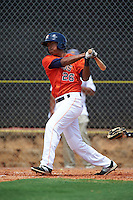 GCL Astros second baseman Jared Cruz (26) at bat during a game against the GCL Braves on July 23, 2015 at the Osceola County Stadium Complex in Kissimmee, Florida.  GCL Braves defeated GCL Astros 4-2.  (Mike Janes/Four Seam Images)