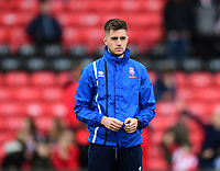 Lincoln City's strength and conditioning/sports massage Kieran Walker during the pre-match warm-up<br /> <br /> Photographer Chris Vaughan/CameraSport<br /> <br /> The EFL Sky Bet League Two - Lincoln City v Chesterfield - Saturday 7th October 2017 - Sincil Bank - Lincoln<br /> <br /> World Copyright &copy; 2017 CameraSport. All rights reserved. 43 Linden Ave. Countesthorpe. Leicester. England. LE8 5PG - Tel: +44 (0) 116 277 4147 - admin@camerasport.com - www.camerasport.com